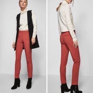 Massimo Dutti Coral Pink Chic Straight Leg Pants